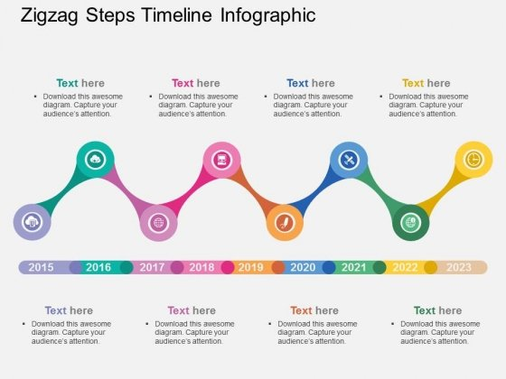 Zigzag Steps Timeline Infographic Powerpoint Templates