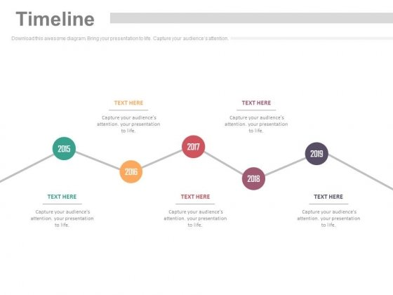 Zigzag Timeline Chart For Business Planning Powerpoint Slides
