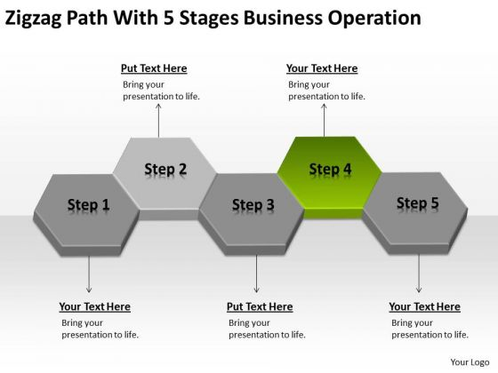 Zigzag Path With 5 Stages Business Operation Ppt How To Do Plan PowerPoint Templates