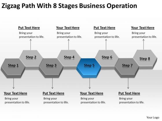 Zigzag Path With 8 Stages Business Operation Ppt Plan Consultant PowerPoint Templates