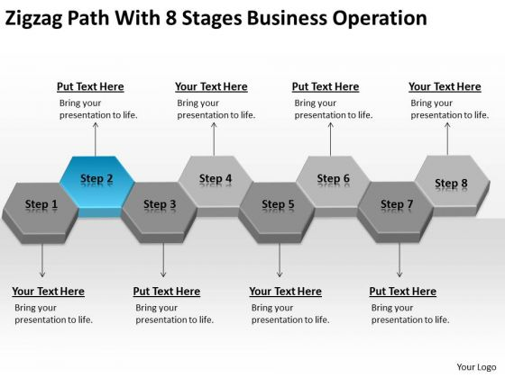 Zigzag Path With 8 Stages Business Operation Ppt Strategic Planning PowerPoint Slides