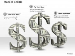 0814 Dollar Currency Symbols PowerPoint Template Image Graphics For PowerPoint