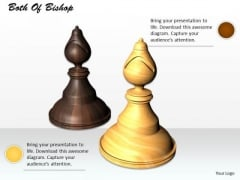 0814 Stock Photo Black And White Bishop Chess Piece PowerPoint Slide