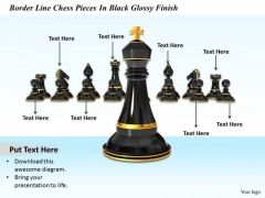 0814 Stock Photo Black Chess King Standing Ahead PowerPoint Slide