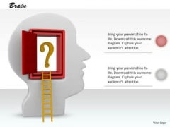 0814 Stock Photo Design Of Ladder To Human Mind PowerPoint Slide