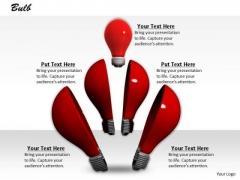0814 Stock Photo Design Of Red Light Bulb PowerPoint Slide