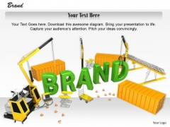 0814 Stock Photo Illustration Of Brand Building PowerPoint Slide