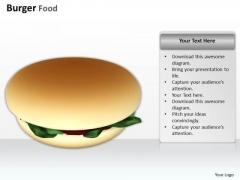 0814 Stock Photo Illustration Of Burger Junk Food PowerPoint Slide