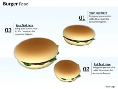 0814 Stock Photo Image Of Burgers Junk Food PowerPoint Slide