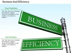 0814 Stock Photo Road Signs Of Business And Efficiency PowerPoint Slide