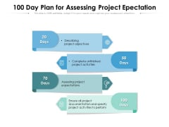 100 Day Plan For Assessing Project Epectation Ppt PowerPoint Presentation File Background PDF