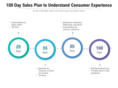 100 Day Sales Plan To Understand Consumer Experience Ppt PowerPoint Presentation File Gridlines PDF
