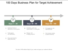 100 Days Business Plan For Target Achievement Ppt PowerPoint Presentation Model Graphics Download