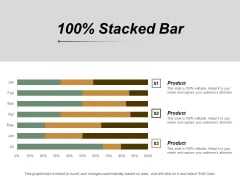 100 Percent Stacked Bar Ppt PowerPoint Presentation Layouts Graphics Template