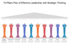10 Pillars Plan Of Effective Leadership With Strategic Thinking Ppt PowerPoint Presentation Professional PDF