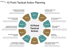 10 Point Tactical Action Planning Ppt PowerPoint Presentation Styles Information