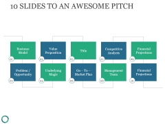 10 Slides To An Awesome Pitch Ppt PowerPoint Presentation Background Images