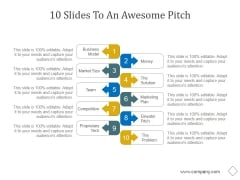 10 Slides To An Awesome Pitch Ppt PowerPoint Presentation Layout