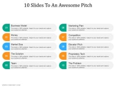10 Slides To An Awesome Pitch Ppt PowerPoint Presentation Show Maker