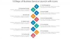 10 Steps Of Business Service Launch With Icons Ppt PowerPoint Presentation File Inspiration PDF