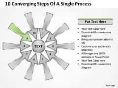 10 Converging Steps Of A Single Process Ppt Circular Flow Chart PowerPoint Templates