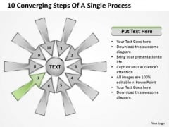 10 Converging Steps Of A Single Process Ppt Relative Circular Arrow Diagram PowerPoint Templates