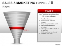 10 Stage Conversion Funnel PowerPoint Slides And Ppt Diagram Templates