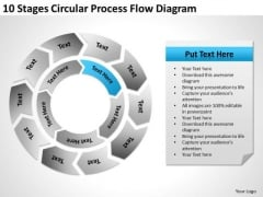 10 Stages Circular Process Flow Diagram Business Plan PowerPoint Slides