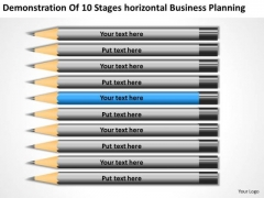 10 Stages Horizontal Business Planning Ppt Plans PowerPoint Templates