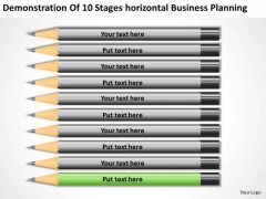 10 Stages Horizontal Business Planning Ppt Real Estate Agent PowerPoint Templates