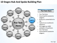 10 Stages Hub And Spoke Building Plan Business Plans Software PowerPoint Slides