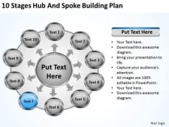 10 Stages Hub And Spoke Building Plan How To Present Business PowerPoint Slides