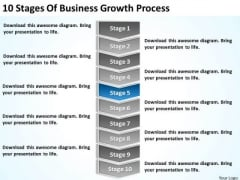 10 Stages Of Business Growth Process Ppt Plan PowerPoint Template
