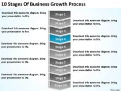 10 Stages Of Business Growth Process Ppt Plan PowerPoint Templates