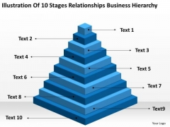 10 Stages Relationships Business Hierarchy Ppt Model Plan PowerPoint Templates