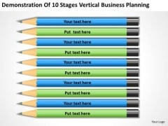 10 Stages Vertical Business Planning Ppt The PowerPoint Templates