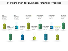 11 Pillars Plan For Business Financial Progress Ppt PowerPoint Presentation Professional Background Images PDF