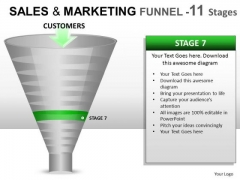 11 Stage Conversion Funnel PowerPoint Slides And Ppt Diagram Templates