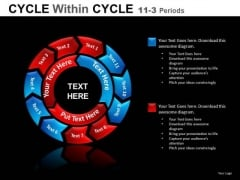 11 Stages Cycle Process Diagram PowerPoint Slides