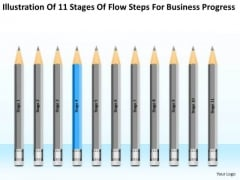 11 Stages Flow Steps For Business Progress Ppt Businessplans PowerPoint Templates