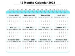 12 Months Calendar 2023 Ppt PowerPoint Presentation File Background Designs PDF