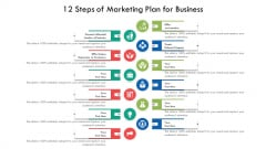 12 Steps Of Marketing Plan For Business Ppt PowerPoint Presentation File Layouts PDF