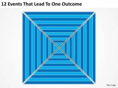 12 Events That Lead To One Outcome Ppt Business Plans Outline PowerPoint Templates