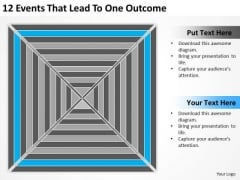 12 Events That Lead To One Outcome Ppt Cost Of Business Plan PowerPoint Templates