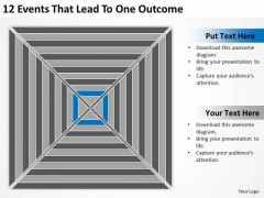 12 Events That Lead To One Outcome Ppt How Form Business Plan PowerPoint Slides