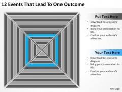 12 Events That Lead To One Outcome Ppt Market Plan Example PowerPoint Slides