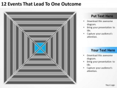 12 Events That Lead To One Outcome Ppt Need Business Plan PowerPoint Templates