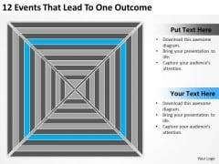 12 Events That Lead To One Outcome Ppt Nonprofit Business Plan Template PowerPoint Slides
