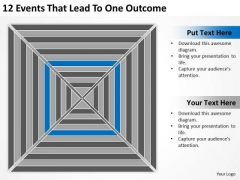 12 Events That Lead To One Outcome Ppt Real Estate Business Plan PowerPoint Slides
