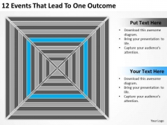 12 Events That Lead To One Outcome Ppt Sample Business Plan Template PowerPoint Slides